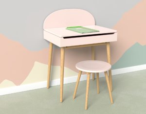children s desk 3D model