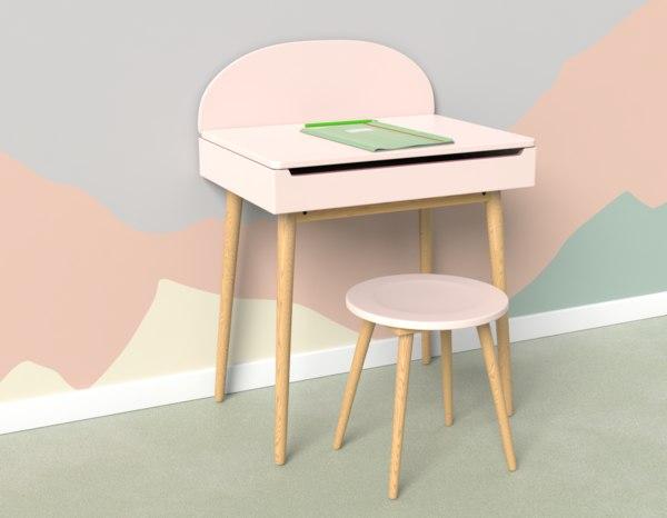 children s desk 3D model