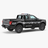 Police Pickup Truck Modern Generic Simple Interior