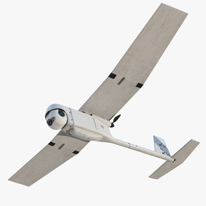 3D model remote controlled uav rq-11b