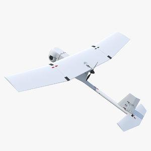 remote controlled uav raven 3D model