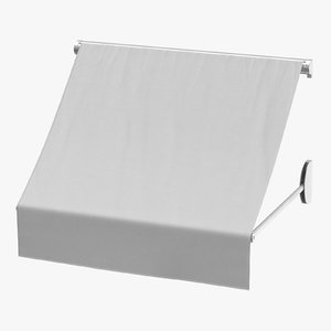 store awning 02 white 3D model