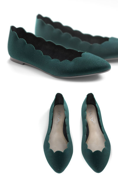 scallop jump flat shoes 3D
