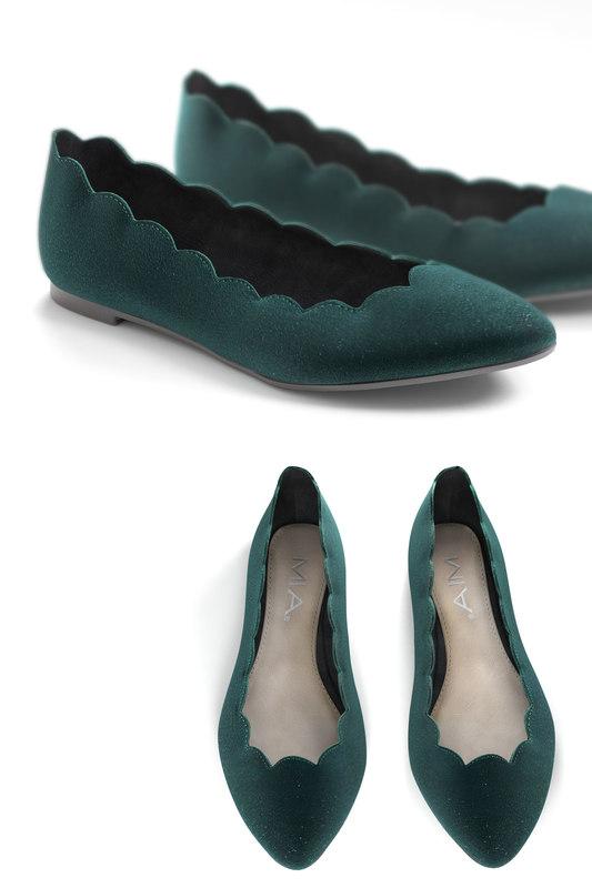 scallop jump flat shoes 3D