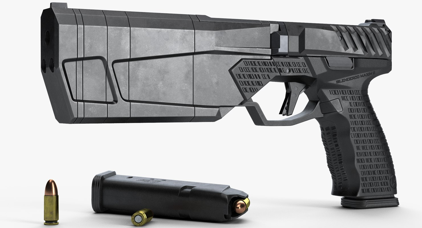 silencerco maxim 9 long 3D model
