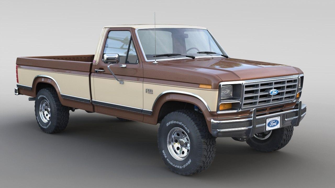 3D 1986 f-150 model