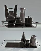 black table set 3D model