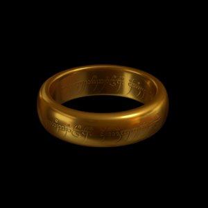 3D sauron ring - lord model