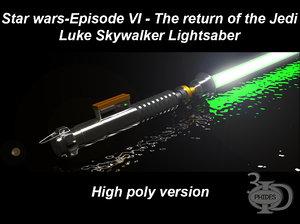 luke skywalker s lightsaber 3D