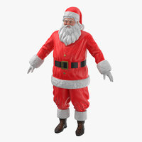 3D santa claus figures pose