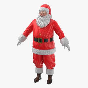 3D santa claus figures pose