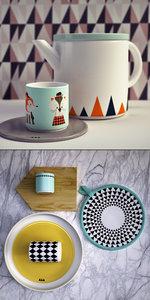 3D ferm living kitchen set model