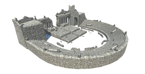 3D model ancient theatre ruins