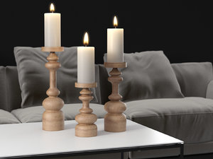 arteriors ainsworth candle holders 3D