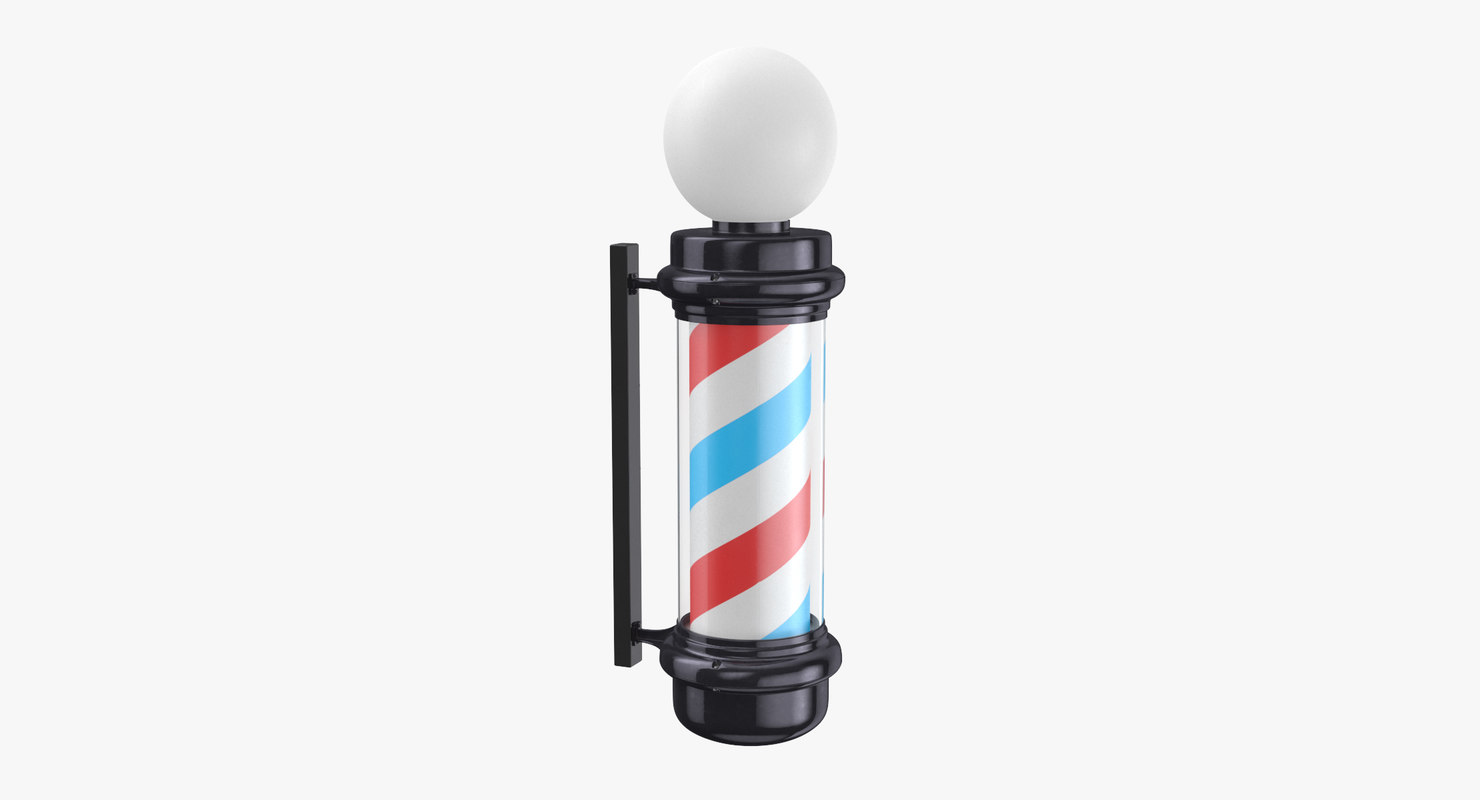3D barber shop pole 01