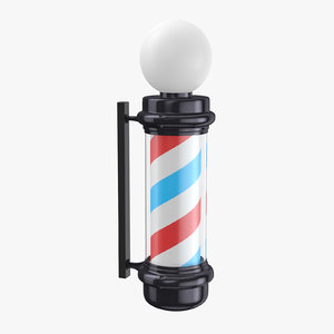 3D barber shop pole 01