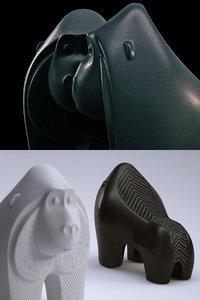 jonathan adler ceramic gorilla 3D model