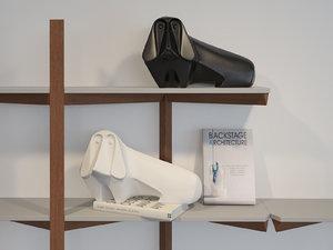3D jonathan adler ceramic basset
