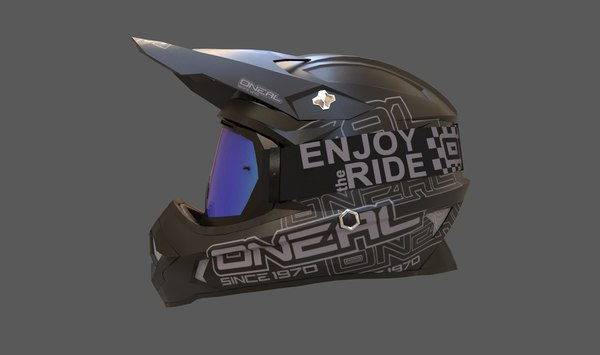 motocross helmet goggle n 3D model