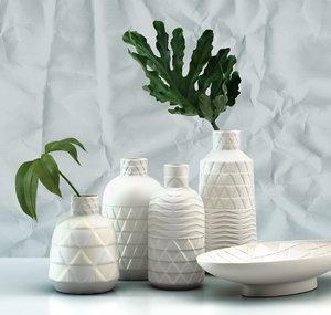 pressed pattern vases model