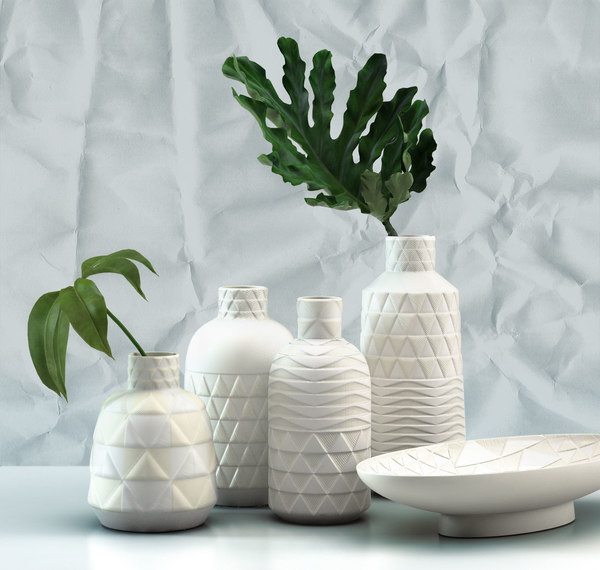 pressed pattern vases model