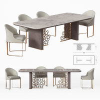 3D model longhi excelsior table