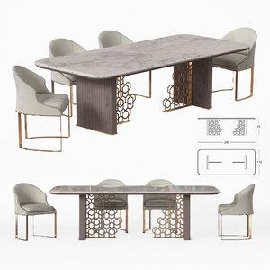 3D model longhi excelsior table