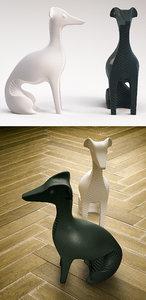 3D jonathan adler ceramic whippet