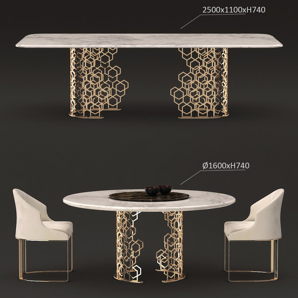 longhi manfred table 3D model