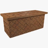 3D wicker basket model