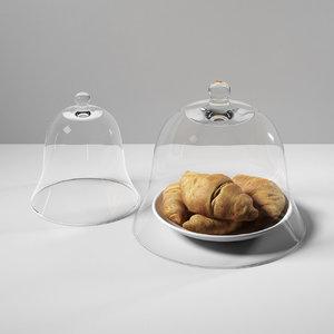croissants glass dome 3D