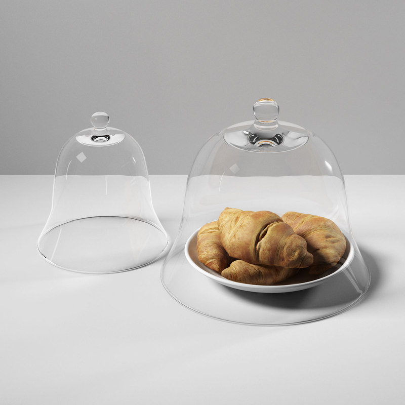 croissants glass dome 3D