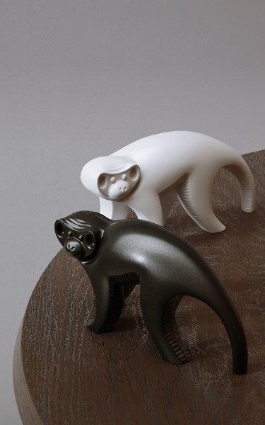 3D jonathan adler ceramic monkey