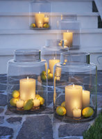 glass hurricane candle holder 3D
