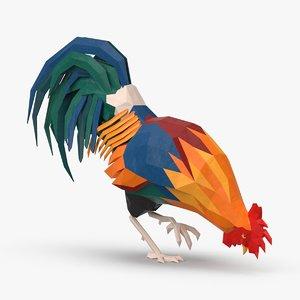 rooster---pecking 3D model
