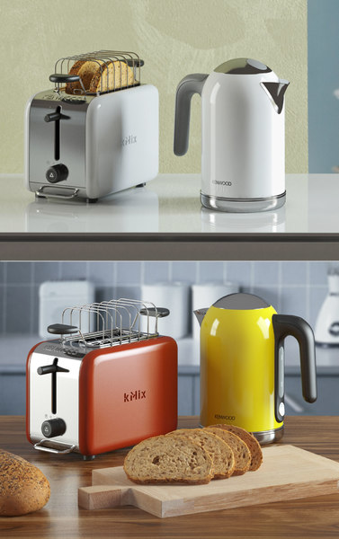 3D kenwood kmix toaster kettle