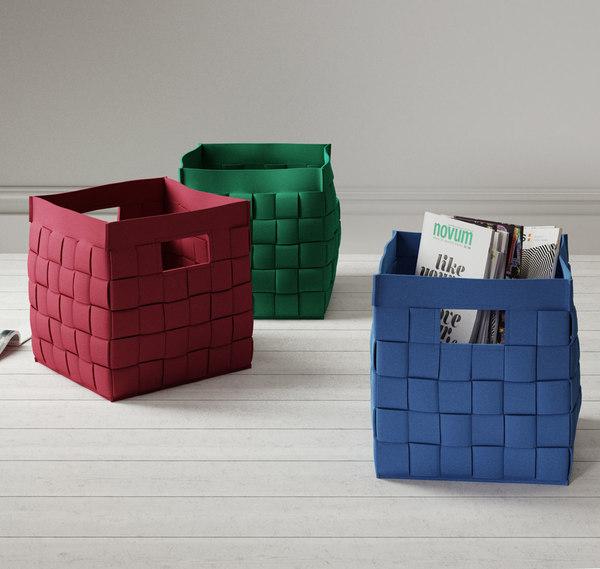 calligaris connor storage basket 3D model