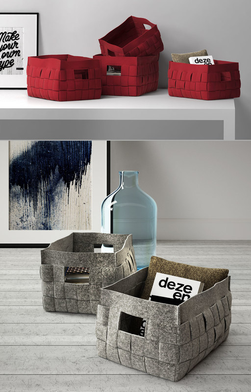 3D model calligaris alvin storage basket