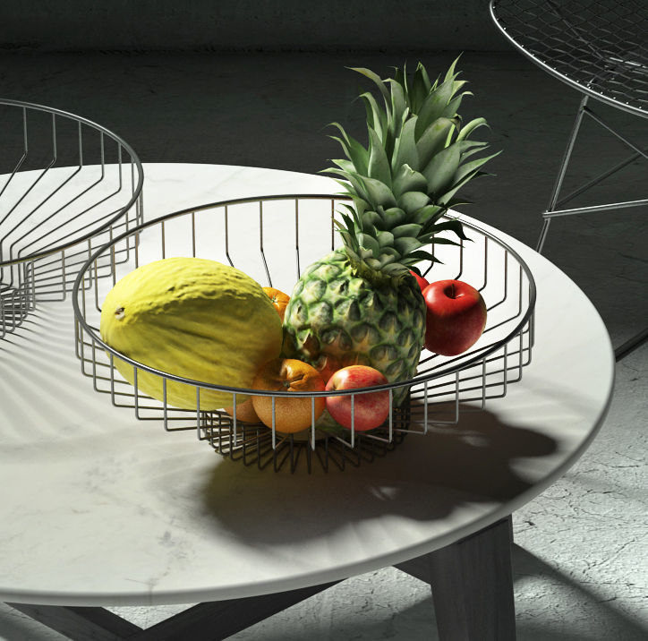 wire fruit bowl 3D