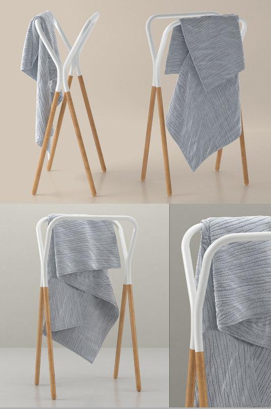 west elm two-tone towel 3D model