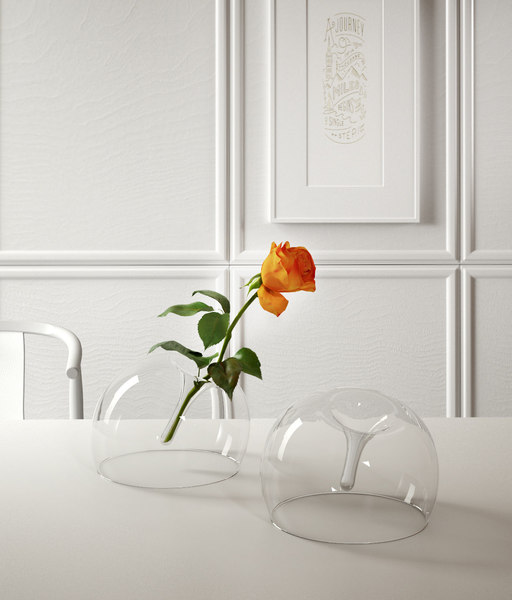 rose glass vase model