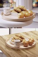 3D tray croissants oranges model