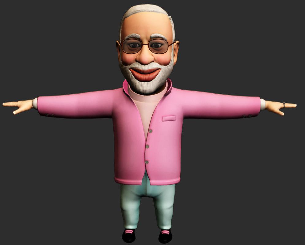 Narendra Modi 3d Character