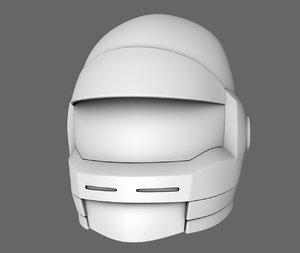 3D model sci fi helmet base mesh