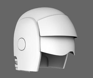 sci fi helmet base mesh 3D model