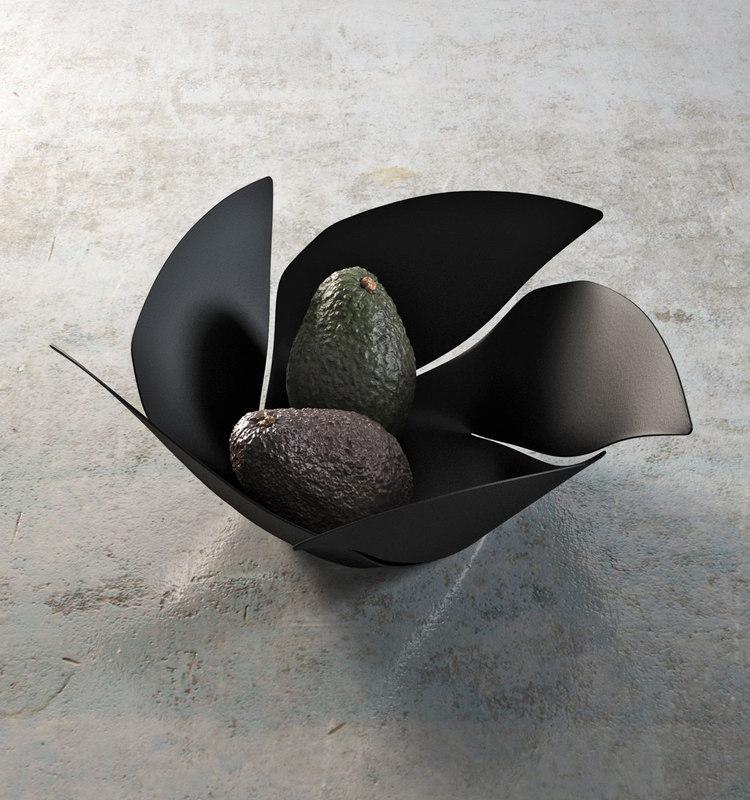 twist fruit bowl avocados model