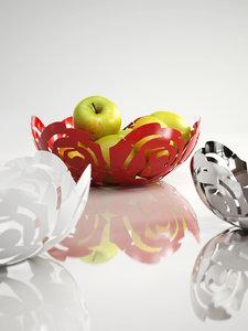 3D la rosa fruit bowl