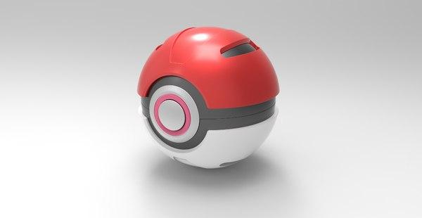3D model ball pokeball