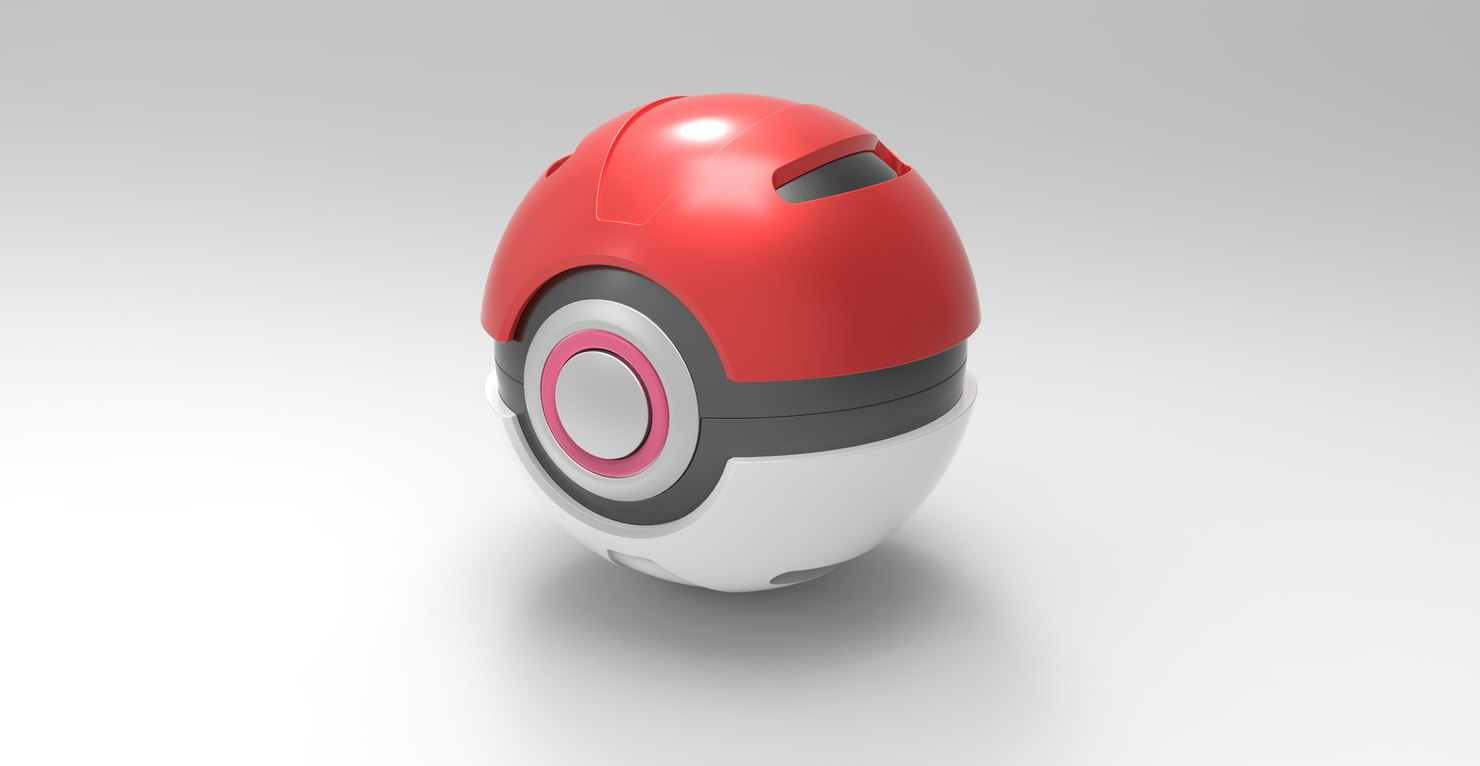 3D model ball pokeball