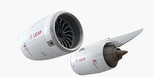 3D cfm leap-1c jet engine